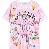 Wholesale Womens Summer Style T Shirts - Wholesale- womens harajuku short sleeve tee top women pink tops for woman letter print tees 2017 summer style tshirt short-sleeve t shirt