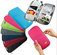 Billetera De Documento De Pasaporte Baratos-Travel Passport Holder Tarjeta de identificación Cash Wallet Purse Holder Case Documento Bolsa documento paquete travel wallet KKA2040