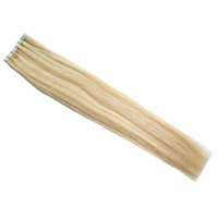 Wholesale 12 inch straight human hair online - Tape in human hair extensions P27 Piano color Blonde Brazilian Hair Skin Weft Tape Hair Extensions g double drawn tape in
