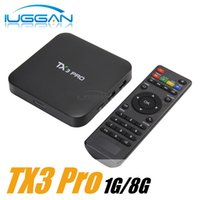 Wholesale Tv Box Multimedia Player - 2017 TX3 PRO Amlogic S905X Android 6.0 Marshmallow TV Box Quad Core 1G 8G Media Player HDMI Multimedia Set Top Box