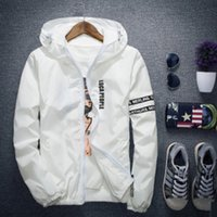 Wholesale Winter Jackets America Europe - Hot Sale Mens Windbreake Hooded Jackets Europe and America Style XXXXL Outerwear Patchwork Winter Coats Lovers Fashion Jackets Mens Clothing