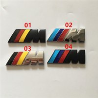 Wholesale Sticker Side - metal 55mm 45mm M power badge emblem chrome car stickers M sport side wing