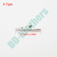 Wholesale Electrical Alligator Test Clip - Metal Round Tail Alligator Clip crocodile electrical Clamp FOR Testing Probe Meter 51MM A Type Hardware accessories 3000pcs lot