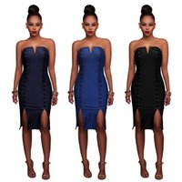 Wholesale Cowboys Hot Sexy - Hot sale 2017 Sexy Corbel Corset Cowboy Dress Extra Large Stretch Multicolor hollow dress for wholesale ZY20