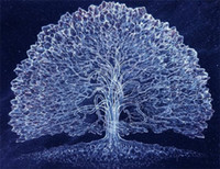 Wholesale abstract panel tree - 5D needlework Diy diamond painting cross stitch kits full resin square diamond embroidery Mosaic Home Decor scenery tree zf0116