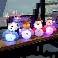 Luminous Santa Claus Snowman Bear Elk 4 Styles Exclusif Super Cute Décoration Décoration Décorations Décoration Light Toy Wholesale 0708050