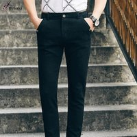 Wholesale Male Fashion Casual Pants - Wholesale- 2016 New Arrival Man Fashion Business Pant 2 Color Mens Pants Casual Famous Brand Oversize Male Trousers Brand Clothing Hot Sale