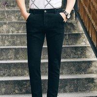 Wholesale Men S Business Pants - Wholesale- 2016 New Arrival Man Fashion Business Pant 2 Color Mens Pants Casual Famous Brand Oversize Male Trousers Brand Clothing Hot Sale