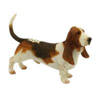 Wholesale dancing figurines - Basset Hound Dog Figurine - Standing Puppy Sculpture 6 inches Basset Hound Dog Statue for Dog Lovers