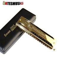 organ printing - SW1664 Professional Mouth Organ Instrument C Key Hole Harmonica with Four Chromatic Octaves Golden Laser Print