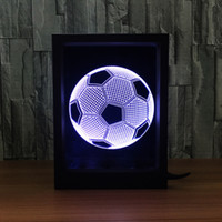 3D Football LED Photo Frame Decoration Lamp IR Remote 7 RGB Lights DC 5V Factory Wholesale Drop Shipping