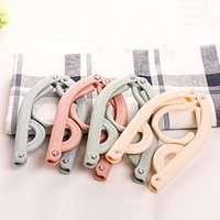 Wholesale Home Department Stores - Creative Wheat straw Environmental protection materials folding hanger travel portable hanging clothes underwear Home Department store