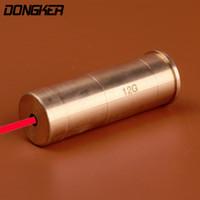 Wholesale Bore Laser 12 - Red Dot Red Laser Bore Sight 12 Gauge Barrel Cartridge Boresighter for 12GA For Airgun Pistol Rifle Hunting