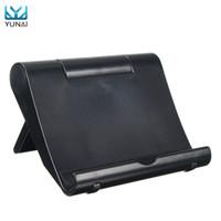 taşınabilir masaüstü standı toptan satış-Toptan-YUNAI Evrensel Masa Masaüstü Cep Telefonu Tabletler Için Tutucu Standı Montaj Yüksek Kalite Taşınabilir Tablet Tutucu Standı