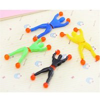 Wholesale Sticky Men - Wholesale-10PCS Sticky On Wall Climbing Tumbling Climber Men Party Kids Toys Birthday Gift For Children NGG04