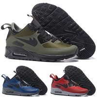 Wholesale Train Cushion - Drop Shipping Famous Cushion 90 Mid Winter Boots Mens Athletic Sports Training Sneakers Running Shoes Air Size 40-45