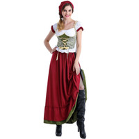 Wholesale Model Dress Wholesale - Female Models German Beer Coverall Bavarian Traditional Costumes National European and American Stage Wear DS Dresses