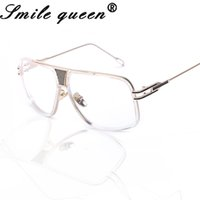Wholesale- Stylish Square Gasses Frame Feminino Mirror Glasses Mulheres Clear Eyeglasses Double Bridge Vintage Nerd Óculos Oculos De Grau