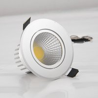 10pcs / lot AC85-265V 9W 12W 15W 18W 21W Spot LED DownLight Dimmable LED COB Spot Éclairé Basse Downlights léger