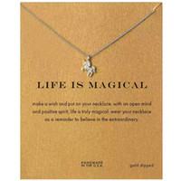 Wholesale Lucite Necklaces Wholesale - Sparkling good lucky unicorn choker Pendant necklace gold plated Clavicle Chains Statement Necklace Women Jewelry Nb