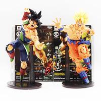 Wholesale Bardock Figure - 22CM Dragon ball Z SCultures BIG Resurrection Of F Styling God Super Saiyan Son Goku Bardock PVC action Figure Toy KT1759
