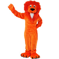 Mascot Costumes XL anmail Orange Lion Mascot cartoon Halloween dress Custom clothing High quality Carnival costumes