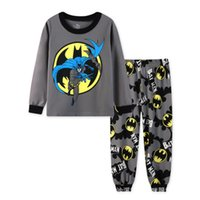 Wholesale Wholesale Childrens Pyjamas - New Spring Autumn Kids Pajamas Baby Boys Clothing Long Sleeve Batman PJS Cotton shirts + pants casual Childrens Pyjamas