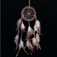 Wholesale Cheap Curtains Living Room - Cheap Home decor Rattan Dream Catcher with Feathers Rome Wall Hanging Decoration Ornament Brand Dreamcatcher