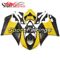Wholesale Plastic Mold Cover - Yellow Black Fairings For Ducati 1098 848 1198 07 08 09 10 11 12 Injection Plastics Sportbike ABS Fairings Covers