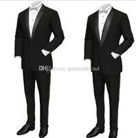 Wholesale Wedding Party Wear Suit Mens - groom wear mens wedding suits wedding tuxedos (jecket+pant) prom tuxedos suits mens tuxedos for wedding party