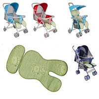 Wholesale Cooling Seat Pads - Wholesale- 2017 Summer Cheap Baby Stroller Cushion Bamboo Fiber Stroller Pad Seat Pad For Baby Prams Stroller Accessories thickening,cool