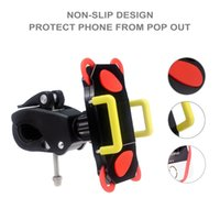 Wholesale red mountain bike handlebars - Mountain Bike Phone Holder Handlebar Bicycle Mount Holder for iphone 7 6S 5S for Samsung S8