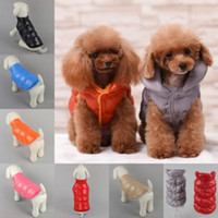 Wholesale Dog Down Coat - Hot Sale Dog Cat Coat Down Jacket Vest Pet Puppy Clothes Winter Warm Apparel Puppy Costume XS-3XL Free Shipping