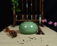 Wholesale Store tea green ceramic seal mini ice crack tea pot crafts