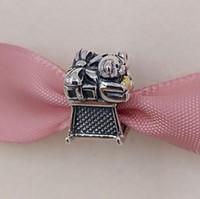 jade oval großhandel-Weihnachtstag Geschenk 925 Sterling Silber lose Jade Perlen Schlitten Charme passt europäischen Pandora Style Schmuck Armbänder Halskette 791207