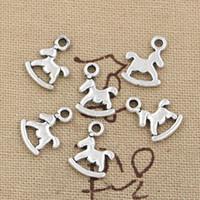 Wholesale Horse Rocking Charms - Wholesale-99Cents 15pcs Charms rocking horse 13*10mm Antique Making pendant fit,Vintage Tibetan Silver,DIY bracelet necklace