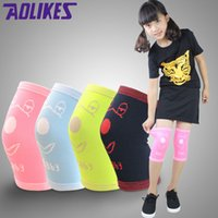 Vente en gros - Aolikes Kids Dance Knee Protector Kneepad Outdoor Running Air Conditioning Tricoté léger respirant Knee Pad Ginocchiere