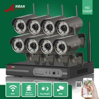 DHL FREE ANRAN P2P 8CH 1080P HDMI WIFI NVR 2.8-12MM Lente 78 IR Exterior 2MP Wireless IP Camera Video Security Surveillance CCTV System