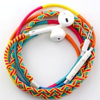Wholesale Handmade Earphone - Idoit Handmade tribe rope earphone with mic suitable for iphone and android devices hot sell at Dubai Mid-East market