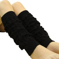 Wholesale Girls Hollow Boots - Wholesale-women girl hollow out boot cuffs cute and worm winter gaiters women knitted footmuff thin and comfortable stulpen beine#632