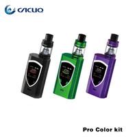 Wholesale Smoktech E Cig - Authentic smok procolor kit mods e cig starter kits with 225w Pro color mod box mods TFV8 Baby big vaporizer V8 baby-t8 coil smoktech