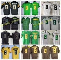 Wholesale Embroidery Sports Jerseys - Oregon Ducks 8 Marcus Mariota College Football Jerseys American Green Black Yellow WhiteFor Sport Fans Embroidery And Sewing Logo
