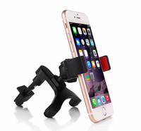 hava yastığı tutucu toptan satış-Mini Universal Araç Hava Firar Çıkışı Telefon Tutucu Samsung Aksesuarları GPS Stent iPhone 6 için Standı