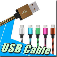 Wholesale Om Connector - 1M 3M Nylon Braided Micro USB Cable with Aluminum Shell Connectors Charger Data USB Cable Cord Available for Android Samsung s7 note5 OM-CA5