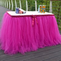 Wholesale Tutu Stand Wholesale - high quanlity tutu table skirt with bow for wedding decorations party birthday evening prom baby skirts whole sale DHL free shipping