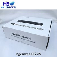 Wholesale Receiver Twin Tuner - 20PCS Zgemma H5.2S BCM73625 Dual-Core Main-chipset HD 1080p DVB-S2+S2 twin tuners h.265 decoding zgemma h52s satellite receiver