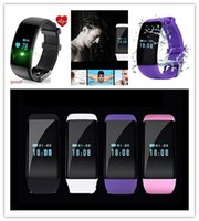 Wholesale Bluetooth Bracelet Caller Id - smart watch Heart Rate and caller ID bluetooth bracelet sports fitness Tracker For IOS Android D21