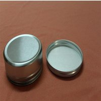aluminum cup holder großhandel-Silber Aluminium Container 83 * 34mm Kerzenständer Aluminium Jar 150ml Creme Dosen Runde Zinn Aluminium Sahne Glas