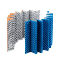 Wholesale inflatable tent clear - Wholesale- Ultra Light Outdoor IXPE and Aluminum Film Folding Waterproof Portable Pads Cushion Camping Pad Dampproof Tent Sleeping Mat