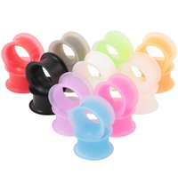 Wholesale wholesale plugs jewelry - Wholesale 100PCS Ear Gauges Soft Silicone Ear Plugs Ear Tunnels Body Jewelry Stretchers Multi Colors Size from 3-25mm